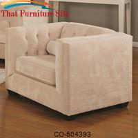 Alexis Transitional Upholstered Chesterfield Chair with High Track Arms by Coaster Furniture