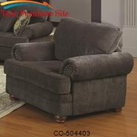 Colton Traditional Styled Living Room Chair with Comfortable Cushions by Coaster Furniture