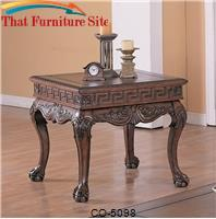 Wilshire Traditional Square End Table by Coaster Furniture