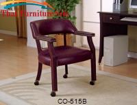 Office Chairs Traditional Upholstered Side Chair with Nailhead Trim by Coaster Furniture