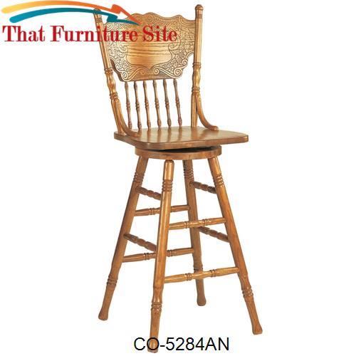 Pleasant Mackinaw 29 Victorian Press Back Bar Stool By Coaster Beatyapartments Chair Design Images Beatyapartmentscom