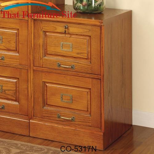 Palmetto Oak File Cabinet with 2 Drawers by Coaster Furniture  | Austi