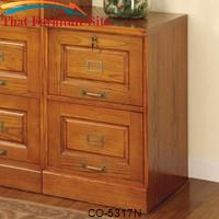 Palmetto Oak File Cabinet with 2 Drawers by Coaster Furniture