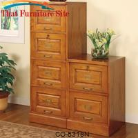 Palmetto Oak File Cabinet with 4 Drawers by Coaster Furniture