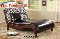 Zebra Animal Print Chenille Chaise Lounge by Coaster Furniture