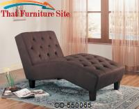 Accent Seating Brown Microfiber Chaise by Coaster Furniture