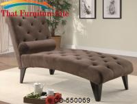 Chocolate Velour Microfiber Chaise by Coaster Furniture