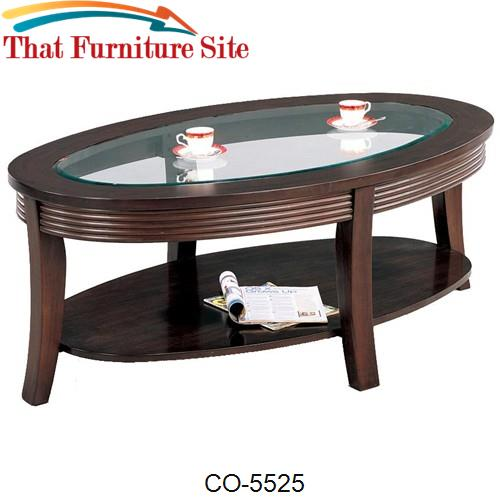 Simpson Coffee Table with Glass Top by Coaster Furniture  | Austin