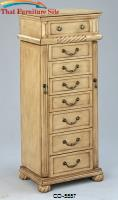 Jewelry Armoires Jewelry Armoire in a Light Green Tint Finish by Coaster Furniture