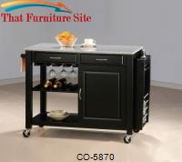 Kitchen Carts Kitchen Cart with Granite Top by Coaster Furniture