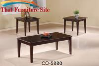 3 Piece Occasional Table Sets 3 Piece Occasional Table Set with Tapered Legs by Coaster Furniture