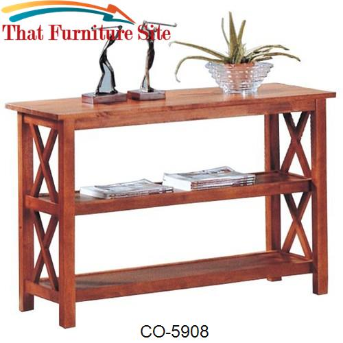 Briarcliff Casual Sofa Table with 2 Shelves by Coaster Furniture  | Au