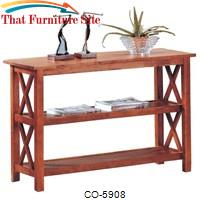 Briarcliff Casual Sofa Table with 2 Shelves by Coaster Furniture