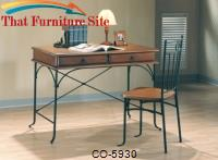 Desks Casual 2-Drawer Table Desk and Chair by Coaster Furniture