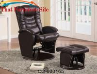 Recliners with Ottomans Casual Glider Recliner Chair with Matching Ottoman by Coaster Furniture