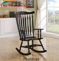 Rockers Traditional Wood Rocker in Black Finish by Coaster Furniture