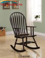 Rockers Transitional Rocking Chair in Black Finish by Coaster Furniture