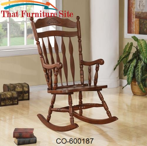 Rockers Traditional Country Wood Rocker by Coaster Furniture  | Austin