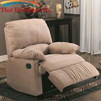 Recliners Microfiber Upholstered Glider Recliner by Coaster Furniture