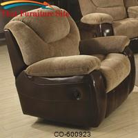 Malena Glider Recliner w/ Scooped Seat by Coaster Furniture