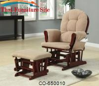 Rockers Casual Glider Rocker with Beige Upholstery by Coaster Furniture