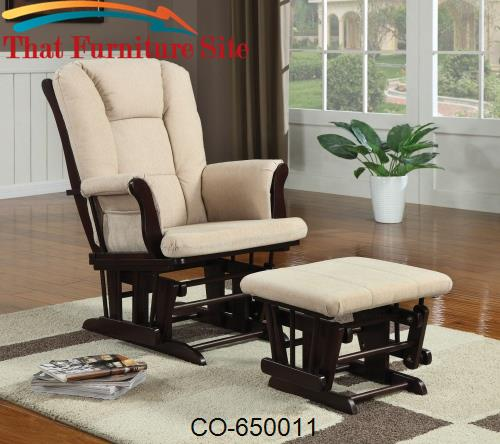 promo code b7dd4 fdda9 Rockers Casual Glider Rocker with Beige Upholstery and Storage Pocket