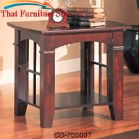 Abernathy End Table with Shelf by Coaster Furniture