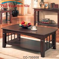 Abernathy Rectangular Coffee Table with Shelf by Coaster Furniture
