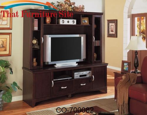 Wall Units Transitional Entertainment Wall Unit by Coaster Furniture