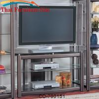 Wall Units Metal TV Stand with Glass Shelves by Coaster Furniture