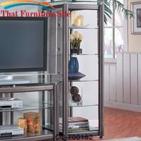 Wall Units Metal Media Tower with 5 Glass Shelves by Coaster Furniture