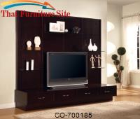 Wall Units Contemporary Entertainment Wall Unit by Coaster Furniture