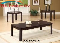 3 Piece Occasional Table Sets Casual Three Piece Occasional Table Set by Coaster Furniture