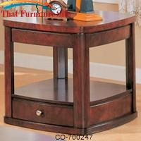 Evans Contemporary End Table with Drawer and Shelf by Coaster Furniture