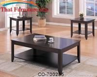 3 Piece Occasional Table Sets Contemporary 3 Piece Occasional Table Set with Shelves by Coaster Furniture