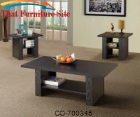 3 Piece Occasional Table Sets Contemporary 3 Piece Occasional Table Set by Coaster Furniture