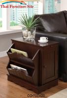 Accent Cabinets Cherry Cabinet Table with Magazine Rack by Coaster Furniture