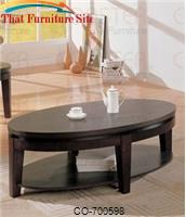Bosworth Contemporary Oval Cocktail Table with Shelf by Coaster Furniture