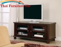 TV Stands Transitional Media Console with Doors and Shelves by Coaster Furniture