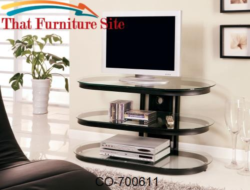 TV Stands Contemporary Metal and Glass Media Console by Coaster Furnit