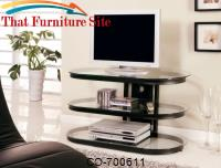 TV Stands Contemporary Metal and Glass Media Console by Coaster Furniture