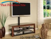 TV Stands Casual Contemporary Media Console with Bracket by Coaster Furniture