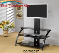TV Stands Casual Contemporary Metal Media Console with Bracket by Coaster Furniture