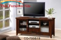 TV Stands Transitional Media Cosole with Doors and Shelves by Coaster Furniture