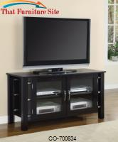 TV Stands Contemporary Media Console with Doors by Coaster Furniture