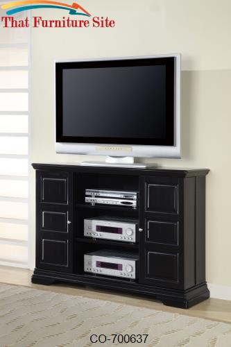 TV Stands Classic Media Console with Doors and Shelves by Coaster Furn