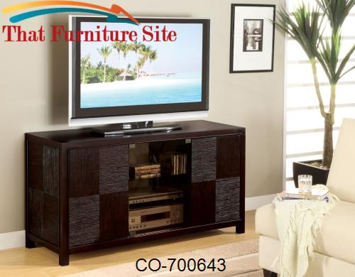 TV Stands Contemporary Television Console with Doors by Coaster Furnit