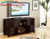 TV Stands Contemporary Television Console with Doors by Coaster Furniture