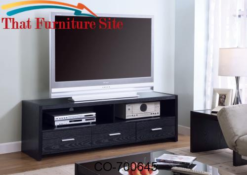 TV Stands Contemporary Media Console with Shelves and Drawers by Coast