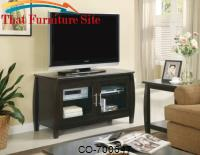 TV Stands Contemporary Media Console with Glass Doors by Coaster Furniture